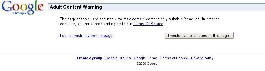google-group-warning