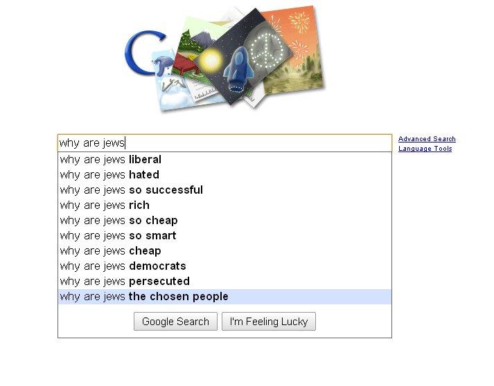 Google Suggest Jews