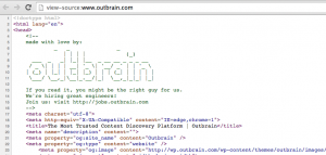 Outbrain html source