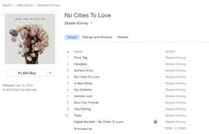 Sleater Kinney iTunes